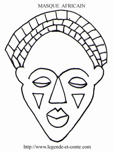 Coloriage et dessins gratuits Masque Africain à imprimer
