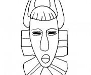 Coloriage Masque Africain à décorer