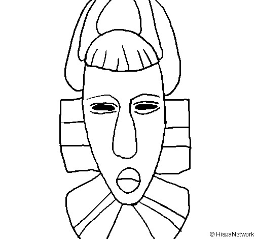 Coloriage Masque Africain A Decorer