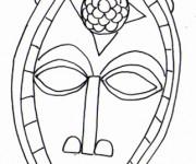 Coloriage Masque Africain au crayon