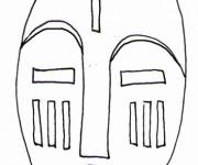 Coloriage et dessins gratuit Masque Africain au Gabon à imprimer