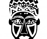 Coloriage Masque Africain en noir