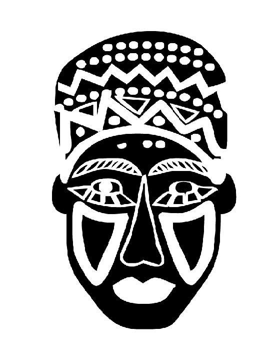 Coloriage Masque Africain En Noir Dessin Gratuit A Imprimer