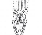 Coloriage et dessins gratuit Masque Africain facile à imprimer