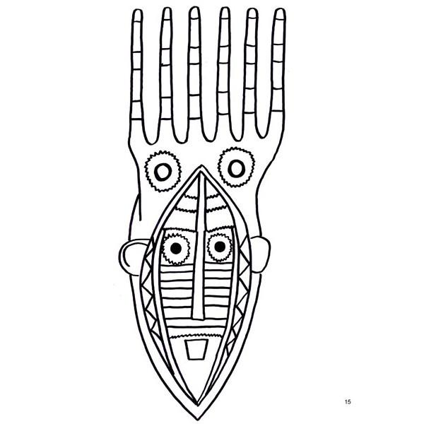 Coloriage et dessins gratuits Masque Africain facile à imprimer