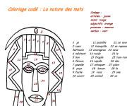 Coloriage Masque Africain magique en couleur