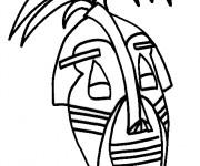 Coloriage et dessins gratuit Masque Africain maternelle à imprimer