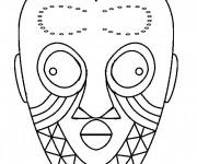 Coloriage et dessins gratuit Masque Africain pour découpage à imprimer