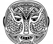 Coloriage Masque Africain stylisé
