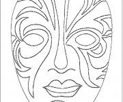 Coloriage Masque Africain sur ordinateur