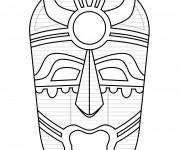 Coloriage Masque Africain vecteur