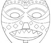 Coloriage dessin  Masque Afrique 13