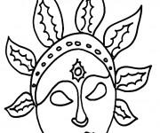 Coloriage dessin  Masque Afrique 17