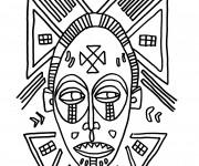 Coloriage dessin  Masque Afrique 19