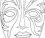 Coloriage dessin  Masque Afrique 23