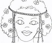 Coloriage dessin  Masque Afrique 25