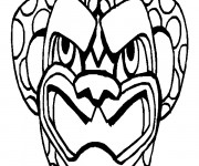Coloriage dessin  Masque Afrique 29