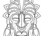 Coloriage et dessins gratuit Masque Afrique 3 à imprimer