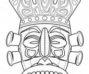 Coloriage dessin  Masque Afrique 31