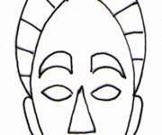 Coloriage dessin  Masque Afrique 8