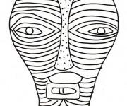 Coloriage Masque Afrique à colorier