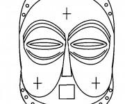 Coloriage Masque Afrique à découper