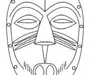 Coloriage Masque Afrique stylisé