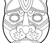 Coloriage et dessins gratuit Masque animaux pour découpage à imprimer