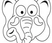 Coloriage Masque d'Éléphant