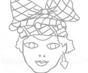 Coloriage Masque de Femme Africaine