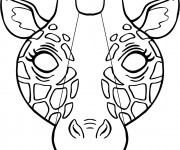 Coloriage et dessins gratuit Masque de Girafe à imprimer