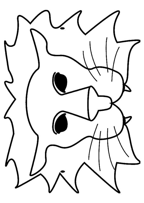 Coloriage et dessins gratuits Masque de Lion à imprimer