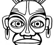 Coloriage et dessins gratuit Un masque Africain à imprimer