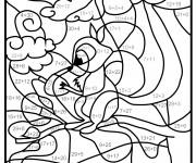 Coloriage dessin  Addition 9