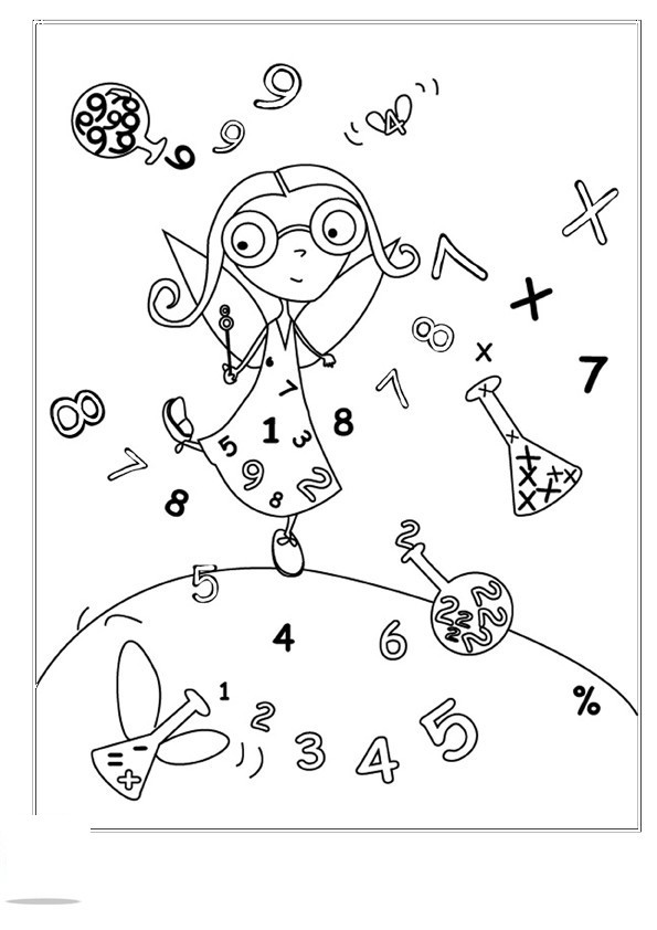 Coloriage et dessins gratuits École et Mathématique à imprimer