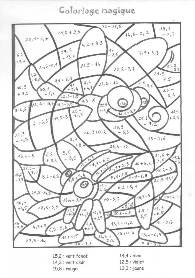 Coloriage et dessins gratuits Magique Addition Insectes à imprimer