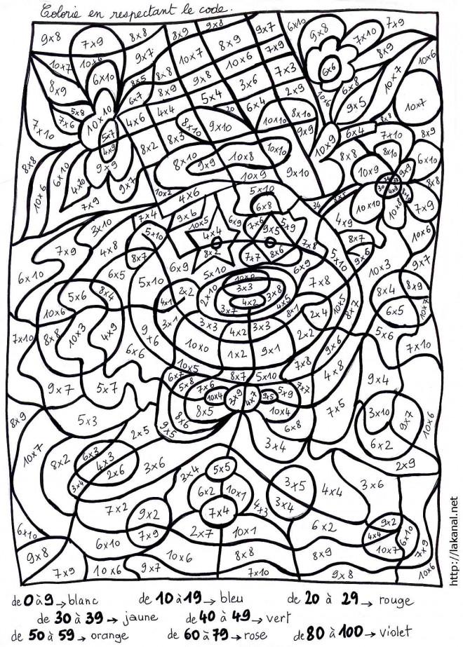 Coloriage Magique Insecte.Coloriage Magique Mathematique Dessin Gratuit A Imprimer