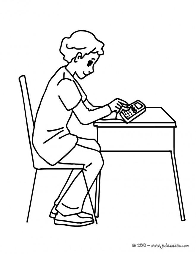 Coloriage et dessins gratuits Séance de Mathématique à imprimer