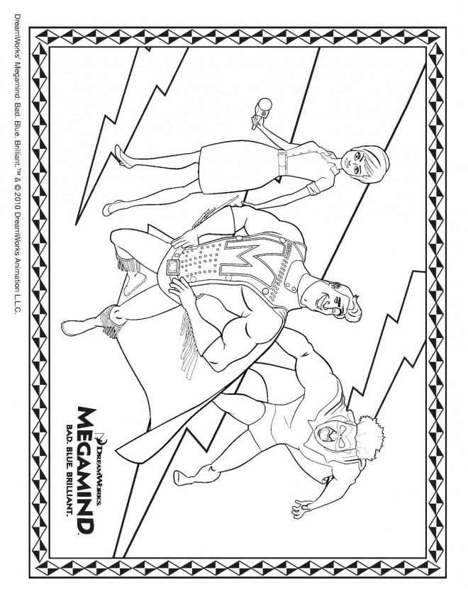 Coloriage et dessins gratuits Affiche de Série Megamind à imprimer