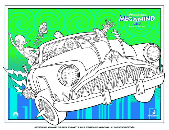 Coloriage et dessins gratuits La Véhicule invisible de Megamind à imprimer