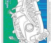 Coloriage et dessins gratuit Megamind à découper à imprimer