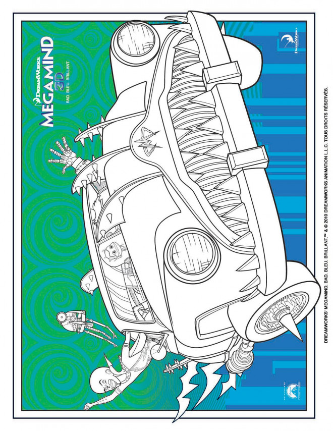 Coloriage et dessins gratuits Megamind à découper à imprimer