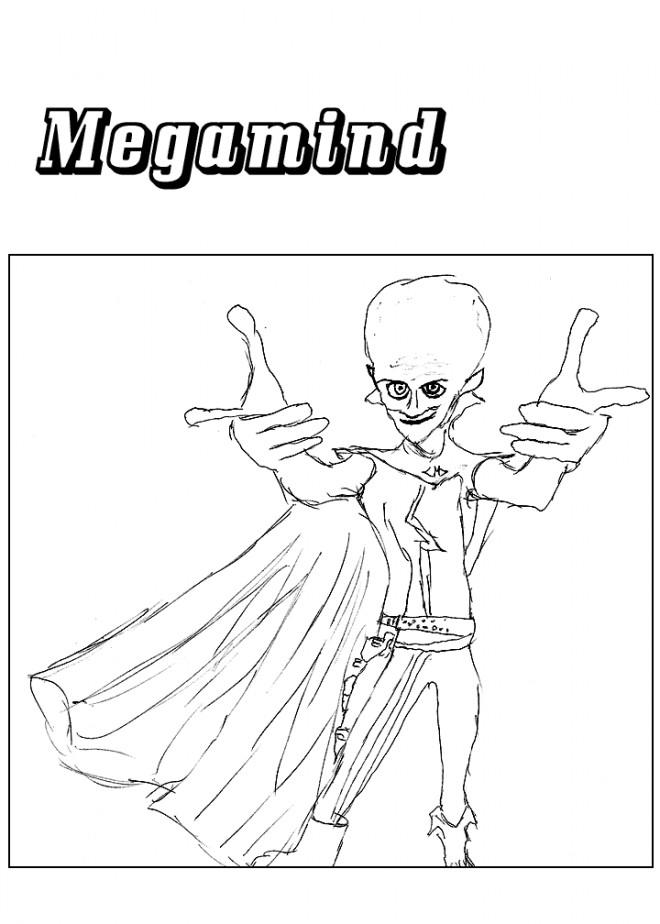 Coloriage et dessins gratuits Megamind au crayon à imprimer
