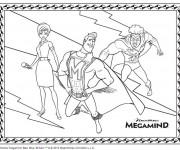 Coloriage et dessins gratuit Megamind dessin animé à imprimer