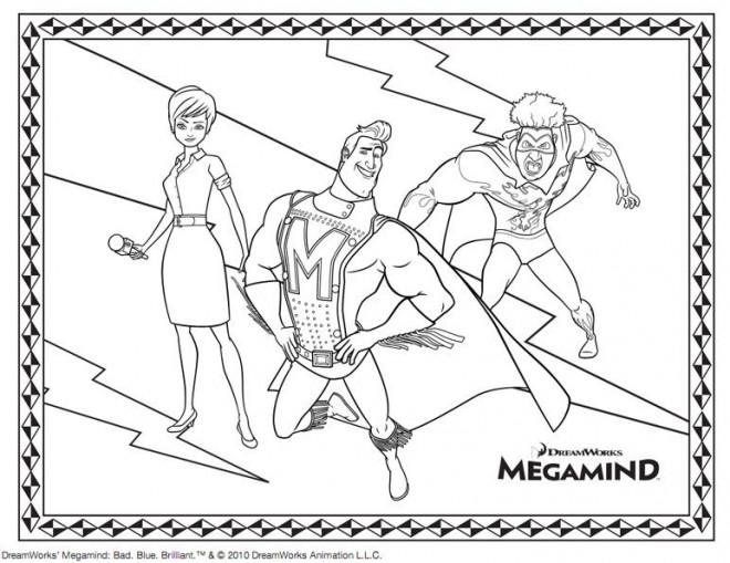Coloriage et dessins gratuits Megamind dessin animé à imprimer