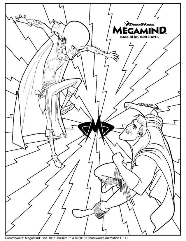 Coloriage et dessins gratuits Megamind et Metro Man à colorier à imprimer