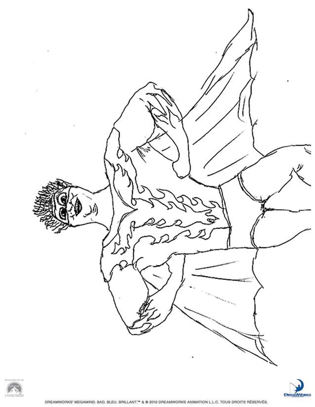 Coloriage et dessins gratuits Megamind Hal Stewart à imprimer