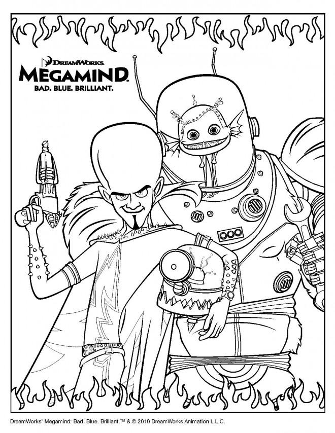 Coloriage et dessins gratuits Megamind L'Alien à imprimer