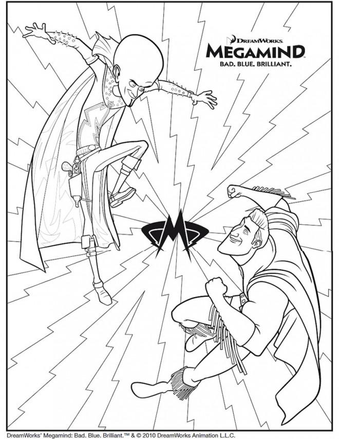Coloriage et dessins gratuits Megamind Métro Man à imprimer