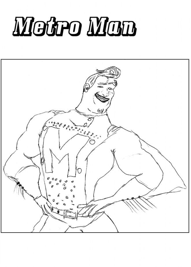 Coloriage et dessins gratuits Portrait de Metro Man à imprimer